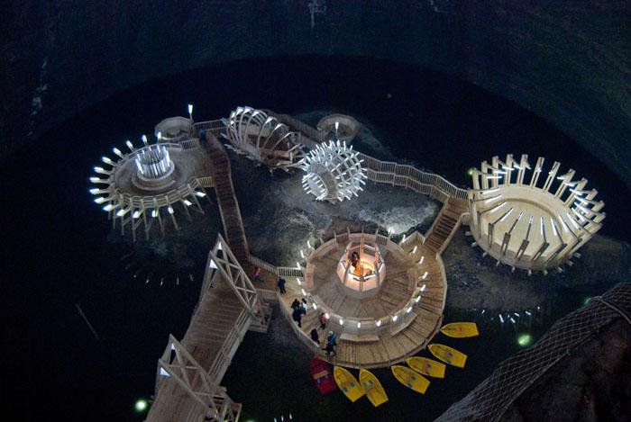 Los Crivac, salas octogonales de la mina