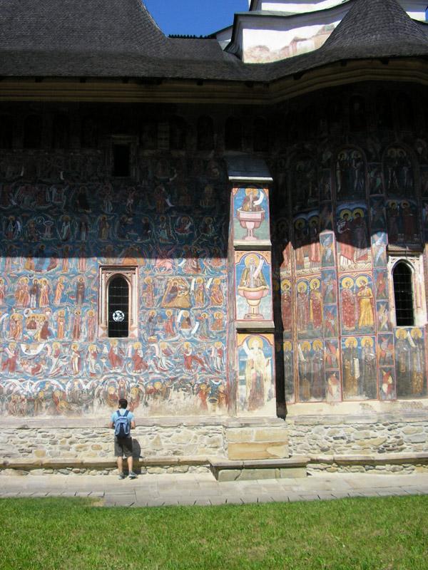 Los frescos de la iglesia pintada de Moldovita
