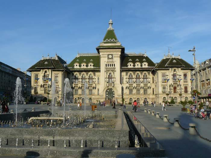 Fachada del ayuntamiento de Craiova