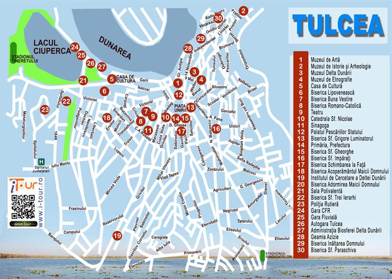 tulcea_mapa