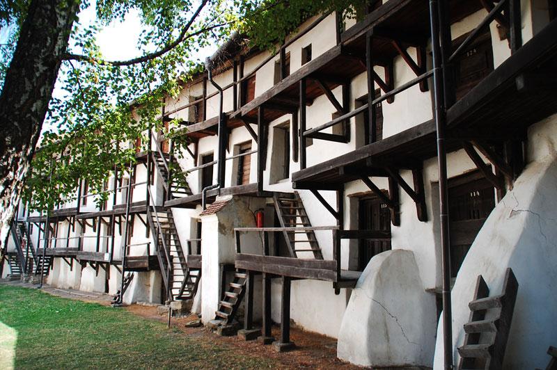 Interior de la fortaleza de Prejmer