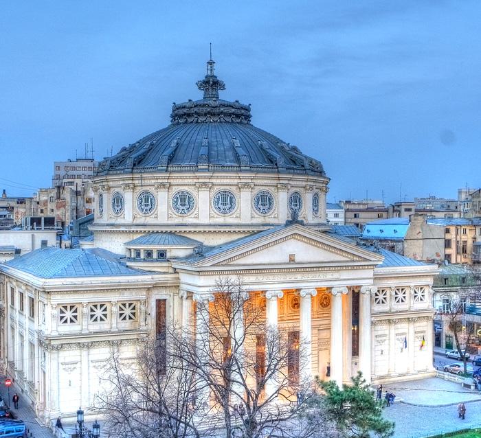 Exterior del Ateneo Rumano