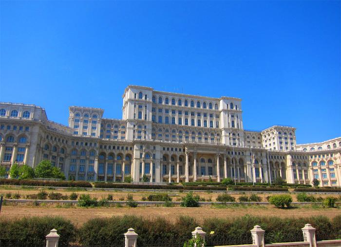 Palacio Presidencial de Ceacescu desde Plaza de la Revolución