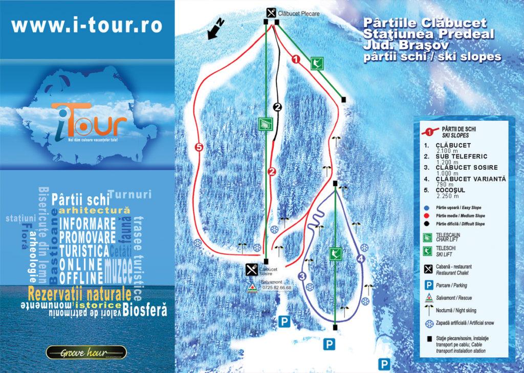 Mapa de las pistas de esquí de Peedeal